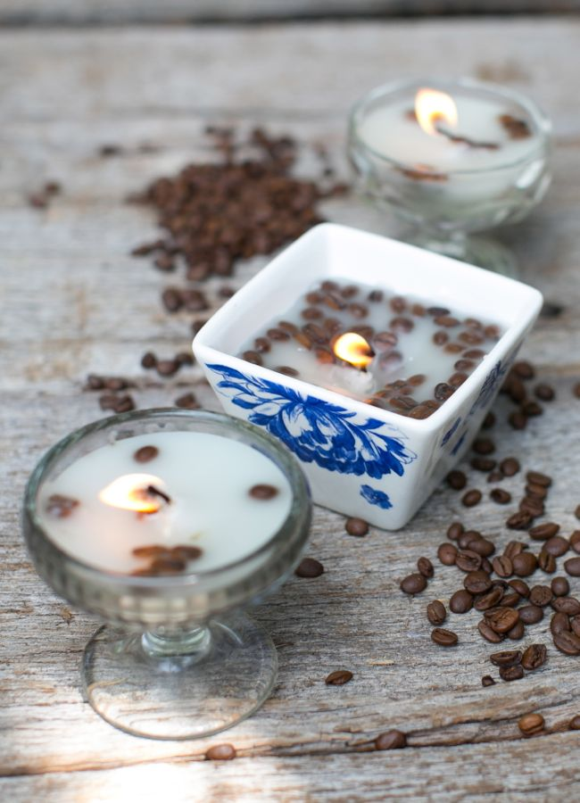 DIY French Vanilla and Coffee Candles