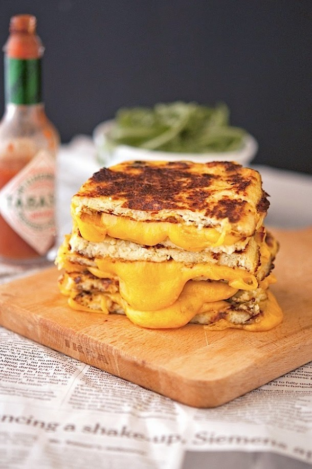 Try This---Cauliflower Crust Grilled Cheese Sandwich