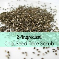 3 Ingredient Chia Seed Face Scrub---Spa Days at Home