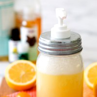 DIY Honey and Lemon Foaming Face Wash---Spa Days at Home