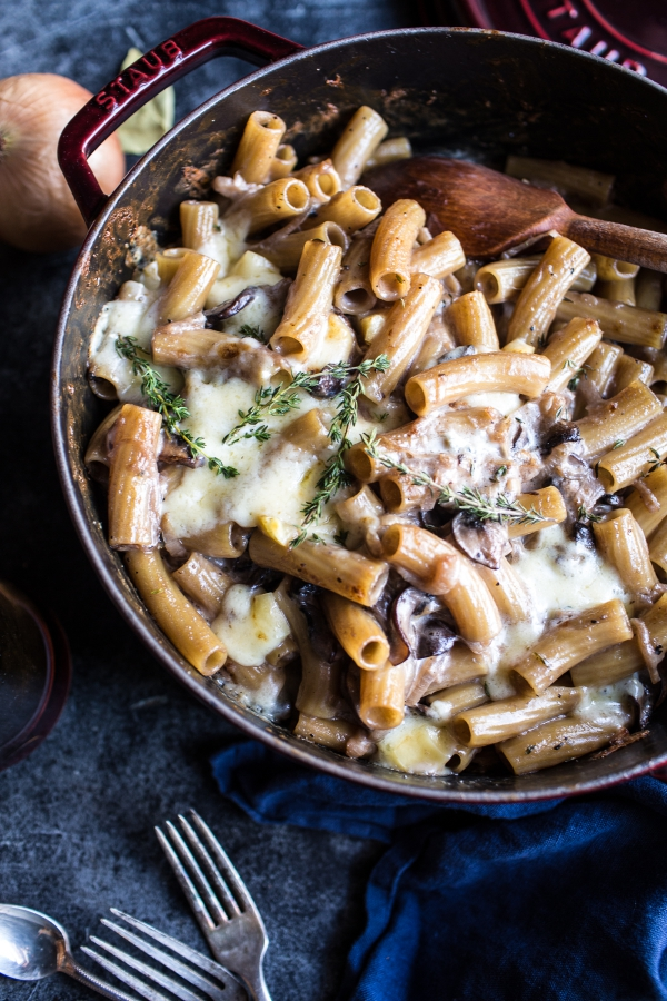 Try This---One-Pot Creamy French Onion Pasta Bake