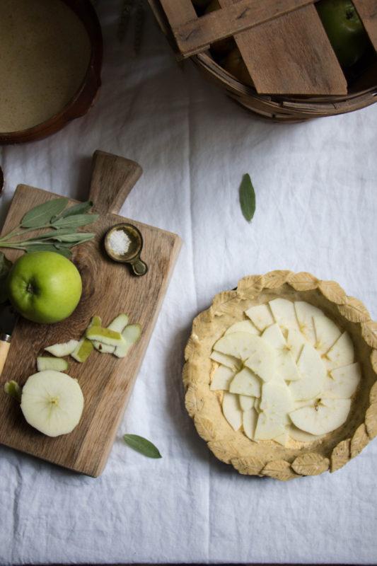 Salted Honey Apple Pie