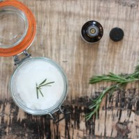 Homemade Rosemary Hair Mask for Dry or Damaged Hair