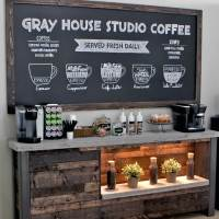 This Couple Really Got the DIY Home Coffee Station Right---Fixer Upper Friday