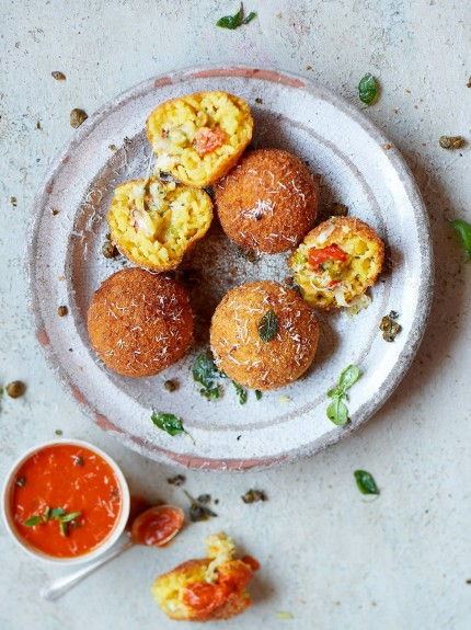 Try This---Arancini, Deep Fried Risotto Rice Balls