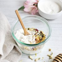 2- Ingredient Purifying Rice Flour Face Mask + Honey Chamomile Rice Flour Scrub
