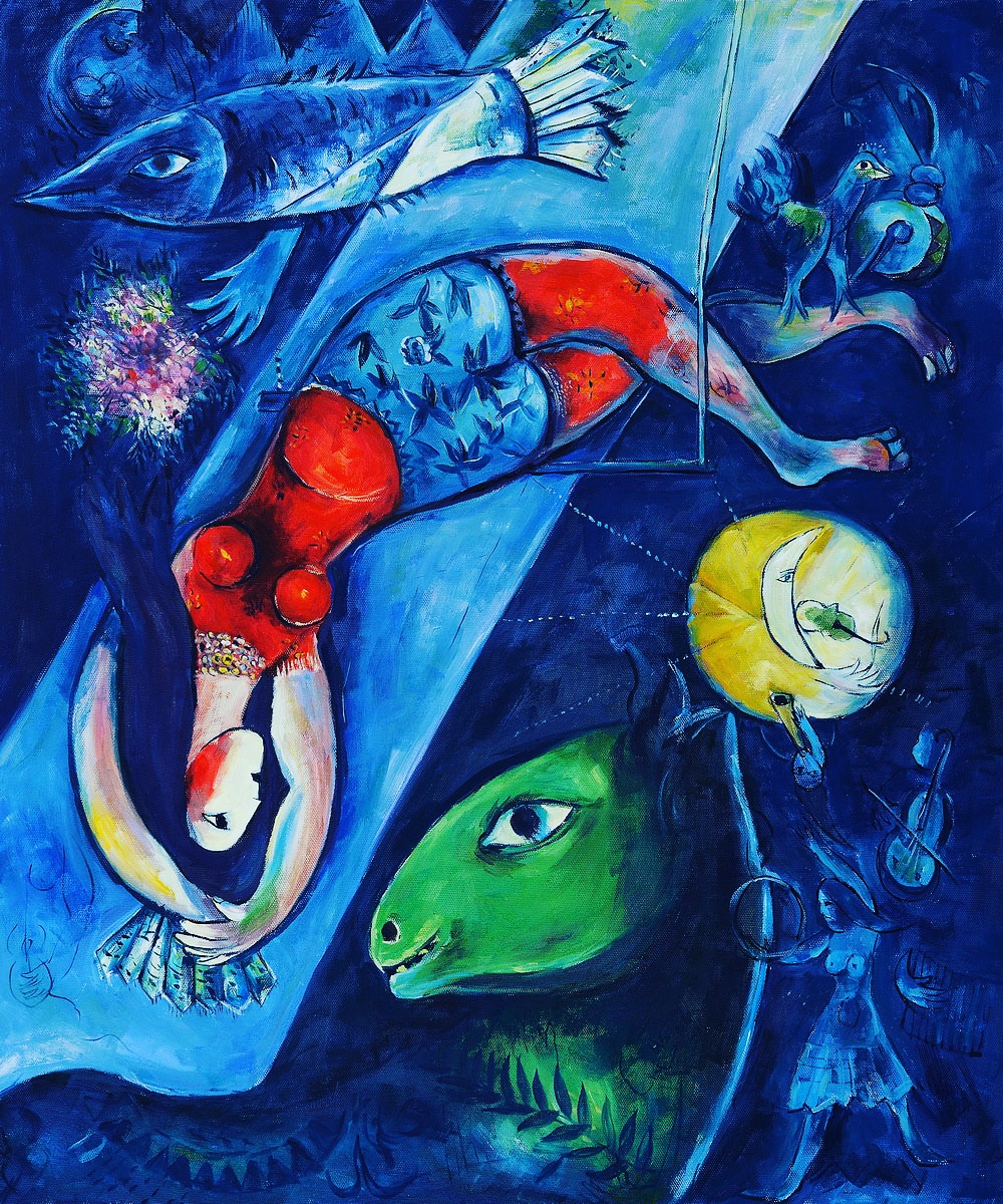Marc Chagall - The Blue Circus