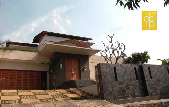 Project Architecture Tropical Modern Semi Detached House Desain Arsitek Oleh Rully Tanuwidjaja Arsitag