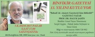 Binfikir Gazetesi 13. Yılına Haluk Şahin ile giriyor