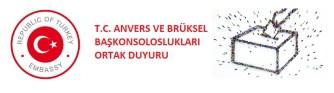 T.C. Anvers ve Brüksel Başkonsoloslukları bu hafta sonu açık: Seçmen kütüğü için adres beyanı yapmak isteyenlere hizmet verilecek
