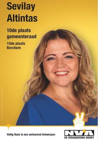 Anvers Belediyesi için N-VA'nın 10. Sıra adayı Sevilay Altıntaş: Asimile olma korkusundan kurtulup,  toplumla bütünleşmek gerekiyor
