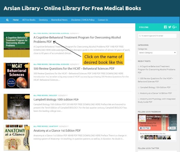 How to Download Free Medical Books from Arslan Library