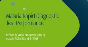 Malaria Rapid Diagnostic Test Performance PDF
