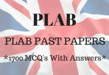 PLAB Past Papers - 1700 MCQ's with Answers PDF