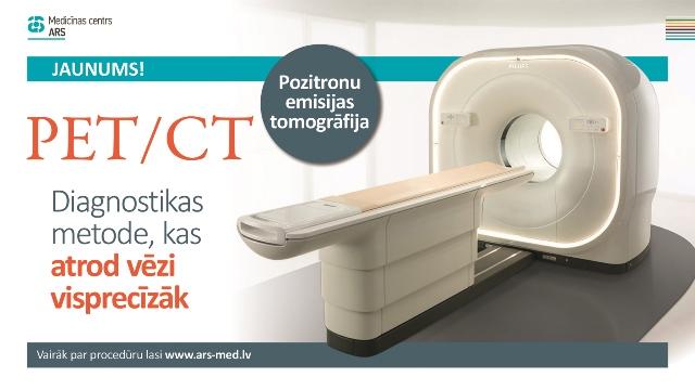 ARS Diagnostikas klīnikā sāk veikt PET/CT izmeklējumus.