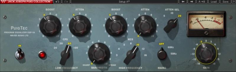 Emulation analogique de Waves du traitement EQ Pultec