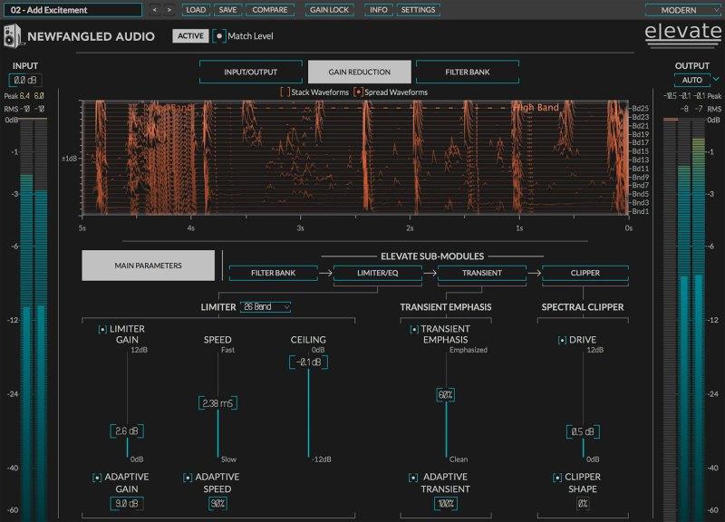 plug-in IA de mastering audio Elevate de Eventide