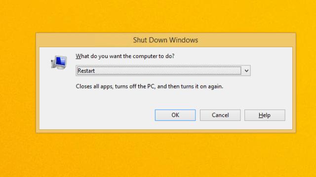 Windows restart