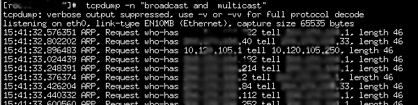 How to capture broadcast or multicast packets with tcpdump
