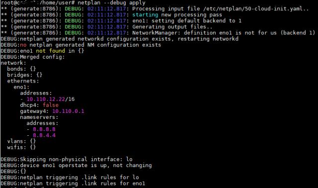 netplan --debug apply