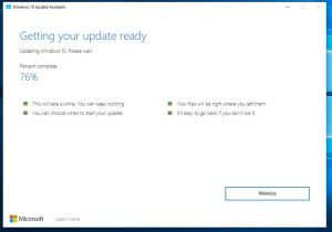 Windows 10 Update Assistant runing