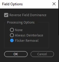 Flicker removal