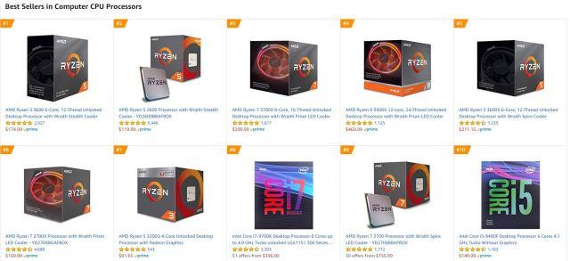 amazon best selling cpu