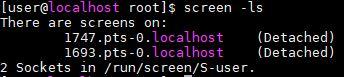 screen -ls