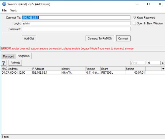 please enable Legacy mode
