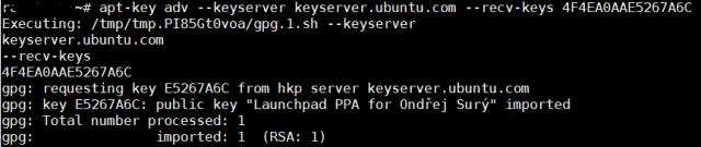 apt-key adv