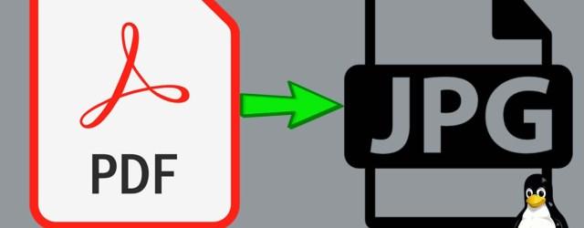 Convert PDF to JPG Linux