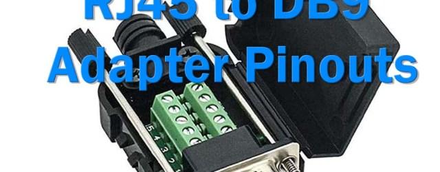 RJ45 to DB9 Adapter Pinouts