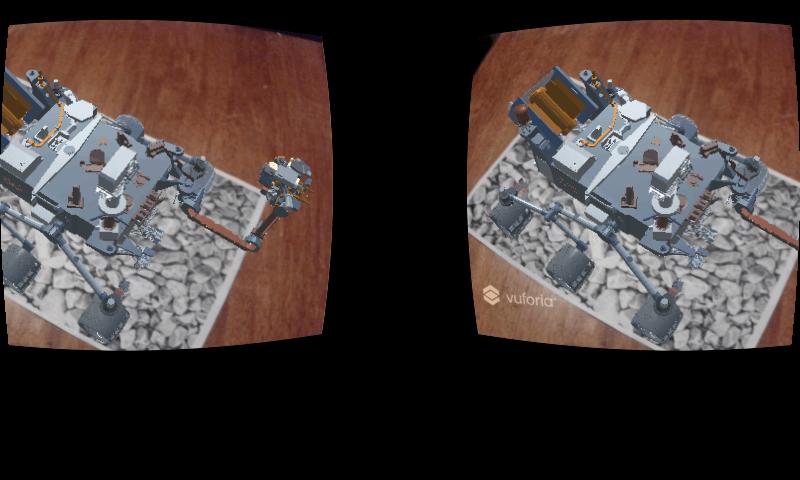 AR tartalom Cardboardban