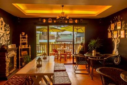 cozy cabin appeal of Cafe De Angelo coffee
