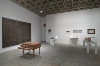 View of Julie Ault, Afterlife: a constellation at the Whitney Biennial 2014, Whitney Museum of American Art, New York, 2014.