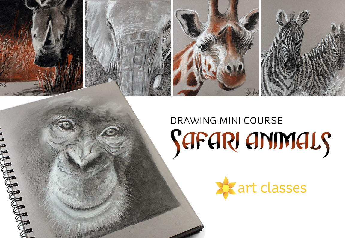 Safari Animals Drawing Class