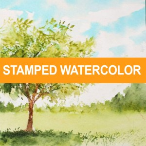 Stamped Watercolor