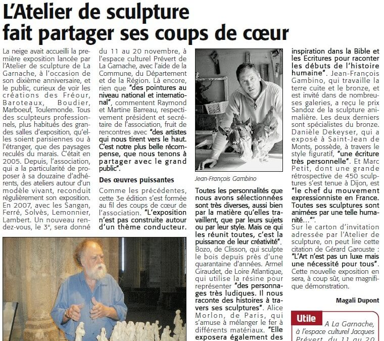 Courrier Vendéen – 03 nov 2011
