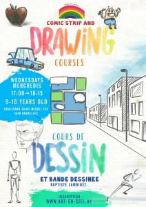 cours de BD Bruxelles/Comic Strip drawing course Brussels
