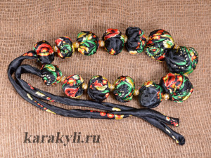 Beads of fabric. Master Class. A photo