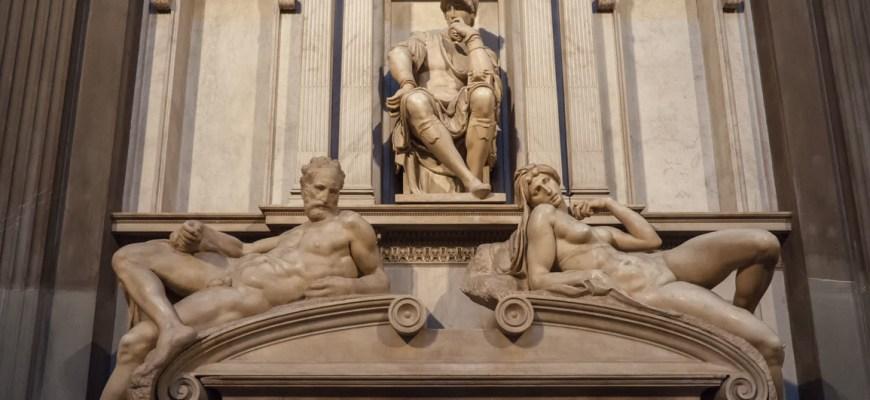Микеланджело, новая ризница, С. Лоренцо, Флоренция, 1520-24 г.