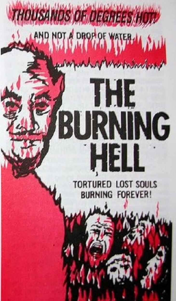 The burning hell, плакат