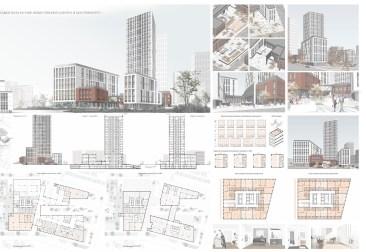Апартаменты в составе общественного центра в Екатеринбурге