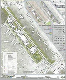 дизайн архитектурной среды пешеходного пространства верхней зоны академгородка