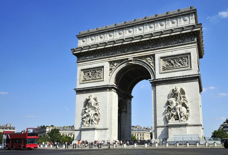Триумфальная арка и площадь Шарля де Голля, Париж.