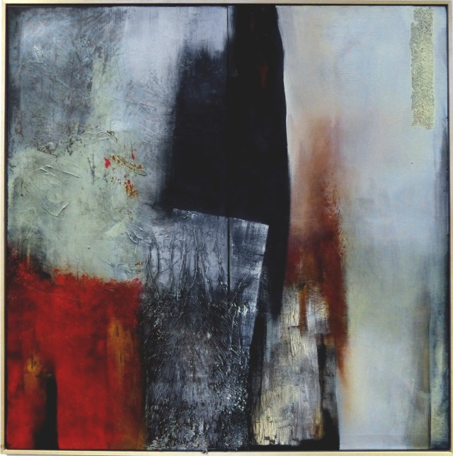 Better together 3 by Carole Kohler - Series Provessence - H124 * W124 D3 cm - Mixed media on canvas
