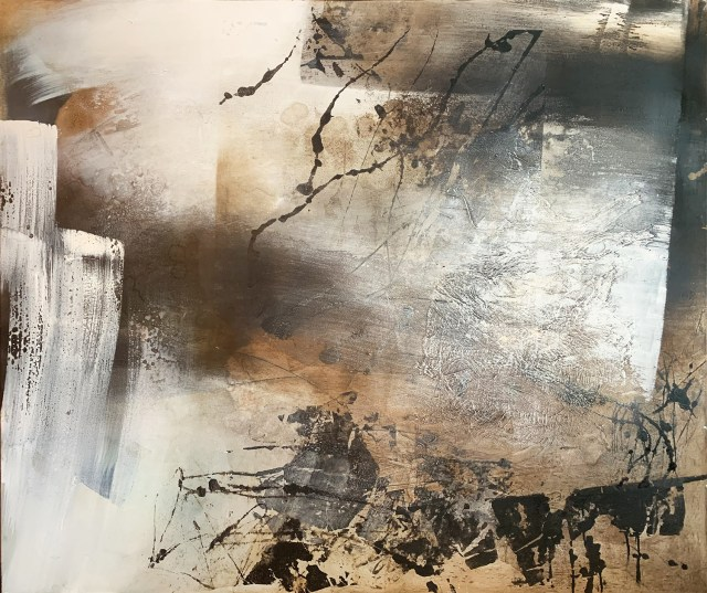 C-scent by Carole Kohler- Series Nordic Feeling - H120 * W140 * D4.5 cm - Mixed media on canvas