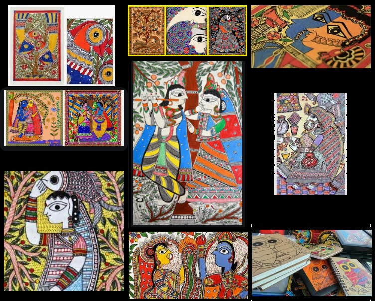 Madhubani Art - One type of style - Bharni (Shading)