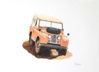 Cream Land Rover