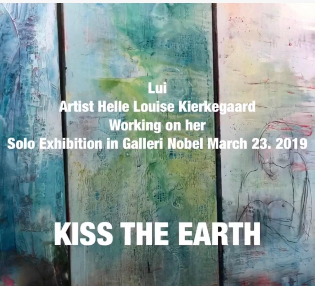 Artist Helle louise Kierkegaard  Working on her Solo Exhibition in Galleri Nobel March 23 2019